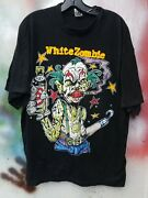 Vintage White Zombie Freaks And Human Oddities T Shirt Xl Rob Zombie Clown