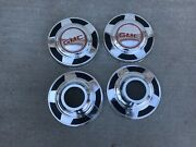 Vintage Gmc 4x4 Truck Dog Dish Hubcaps Wheel Covers 10 1/2andrdquo