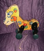 All Fair Billy Goat Pull Toy Wood C. 1930