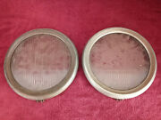 1920and039s - 1930and039s Guide Tilt Ray Flatandnbsp Head Lamp Lens Part With Rim About 9 Inches