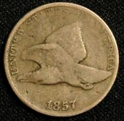 1857 Flying Eagle One Cent Coin - Philadelphia Mint Early 1c Coin