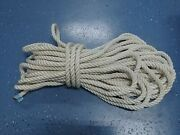 New England Rope Boat Anchor Dock Line 3/4 X 97and039 Twisted 3 Strand Nylon White