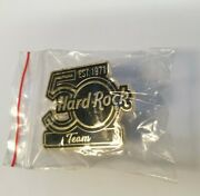 Staff Hard Rock Cafe 50th Anniversary Team Logo Badge. Mint New Condition