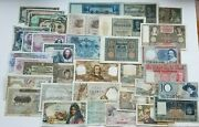 Huge Collection From Europe Asia America Circulated 75 Banknotes Rare Lot