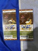 2011 World Series Game 6 And 7 Tickets Signed By David Freese