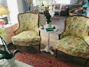 A Stunning Pair Of Ethan Allan Accent Chairs