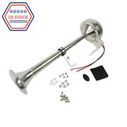 Fits Truck Train 12v Car Marine Boat Stainless Steel Single Trumpet Horn 390mm