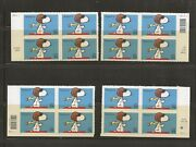U S Stamps 3507 Peanuts Snoopy One Of These Vf Mnh Plate Blocks Free Shipping