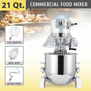 21 Qt Commercial Food Dough Mixer 1100w Pro Planetary Mixer With 3 Attachments