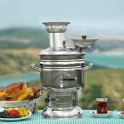 Charcoal / Wood Samovar Camping Water Heater Stove Bbq Tea Kettle And Tent Stove