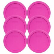 Pyrex 7201-pc 6 Pink Plastic Storage Cover Lid 6 Pack New For 4 Cup Glass Bowl