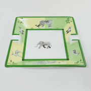 Pre-owned Authentic Hermes Ashtray Africa Elephant Pattern With Green Case