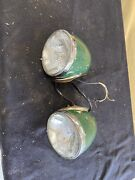 Vintage 1930andrsquos 1940andrsquos Hella Headlights Rat Rod Hot Rod Tractor Side Mount Nice