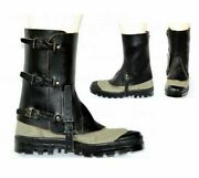 Brand New Swiss Army Surplus Leather Boot Gaiters Black