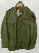 Genuine Vintage Us Army M65 Field Jacket - 1st Cavalry Division - X-small