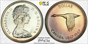 1967 Canada 1 Dollars Pcgs Pl65 Cam Proof Like Color Toned Silver Superb Bu