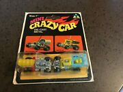 Set Of Two Vintage 70's Tins Toys Mini Crazy Cars Mattel Hot Wheels Zowees Rare