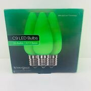 25 Led Christmas Light Bulbs With Opticore Technology Unbreakable Opaque Green