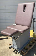 Hill Ha90e Treatment And Exam Medical Table Chair W Stirrups Powered High Low