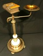 Vintage Ashtray Stand With Cigarette Box Shaped Like A Book
