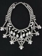 The Most Sparking Massive Rhinestone Collar Necklace Ever Seen Nk2040