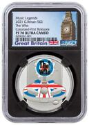 2021 Uk Music Legends -the Who 1oz Silver Proof Colorized £2 Coin Ngc Pf70 Uc Fr