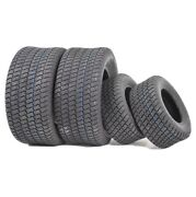 2 Front And Rear Lawn Mower Turf Tires Size 18x9.50-8 And 15x6.00-6