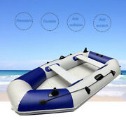 4 Person Inflatable Fishing Rowing Boat Pvc Floating Boat Raft Set With Oars Us