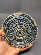 Vintage Original Stone Cookie Mold South Indian Cookie Mould Rolling Plate