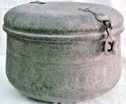 Antique Copper Silver Plate Cooking Pot And Cover Islam Phrases Around Middle East