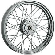 Drag Specialties Front Laced Wheel Dual-disc - 19in. X 2.50in. Chrome Ds-380155