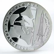 Somali 50000 Shillings Football World Cup In France Player Silver Coin 1998