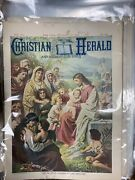 Antique Christian Herald Magazines 1899 Lot Of 19 Bagged New York Great Old Mags