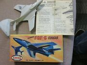 Grumman F9f-6 Cougar Famous Aurora Fighters Toy Scale Model Kit 293-29 Airplane