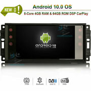 Android 10.0 Head Unit Radio Gps Sat Navi For Jeep Commander Wrangler/unlimited