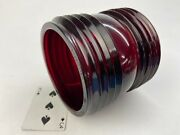 Red Glass 360 Fresnel Replacement Globe Railroad Lantern Gb 17998 5-5/8tall Nos