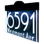 Illuminated Led Lighted Address Sign Plaque Address Numbers House Numbers Sign