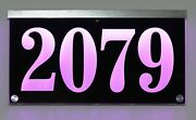 12v Dc Illuminated Address Sign Plaque House Numbers Led Lighted Auto On/off