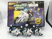 Vtg Everbright Toys Pull Back Highway Patrol Police Cycle 12 Count Display Box