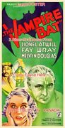 The Vampire Bat 1933 Lionel Atwill Fay Wray = Poster 3 Sizes 4 Ft / 6 Ft / 7 Ft
