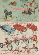 Simpsons-sears 1957 Hobby Horse Pedal Car Tricycle=poster Christmas 4sizes14-19