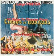 Circus Of Horrors 1960 Towering Terror = Movie Poster 10 Sizes 17 - 3.5 Feet