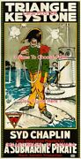 A Submarine Pirate 1915 Syd Chaplin Keystone = Poster 3 Sizes 4 Ft / 6 Ft / 7 Ft