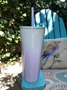 New Starbucks 2021 Blue Lilac Purple Ombre Gradient Stainless Metal Tumbler Cup