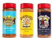 Meat Church Bbq Rub Combo Holy Gospel Honey Hog And Holy Cow 3 Pack