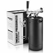 Growler Tap System Pressurized Stainless Steel Mini Keg With Cooler Jacket