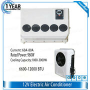 12v Car Wall-mounted Air Conditioner Cooling Fan Cooler For Caravan Truck Us