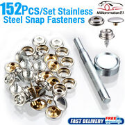 152 Pcs Stainless Steel Boat Marine Canvas Fabric Snap Cover Button And Socket Kit