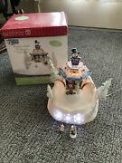 Dept 56 North Pole Series Animated Frostyandrsquos Sleds N Saucers 56449 Complete
