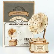 Antique Classical Gramophone Player Vintage Record Player Kids 3d Wooden Puzzles
